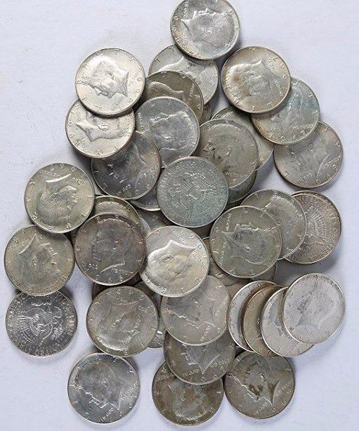Lot of 44 Kennedy Half Dollars 40% 1965-1970