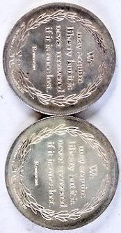 Pair of Silver Rounds 1 oz each - 2
