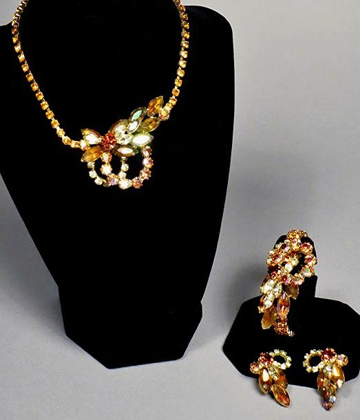 Three piece vintage Jewelry Juliana Brown , attri.