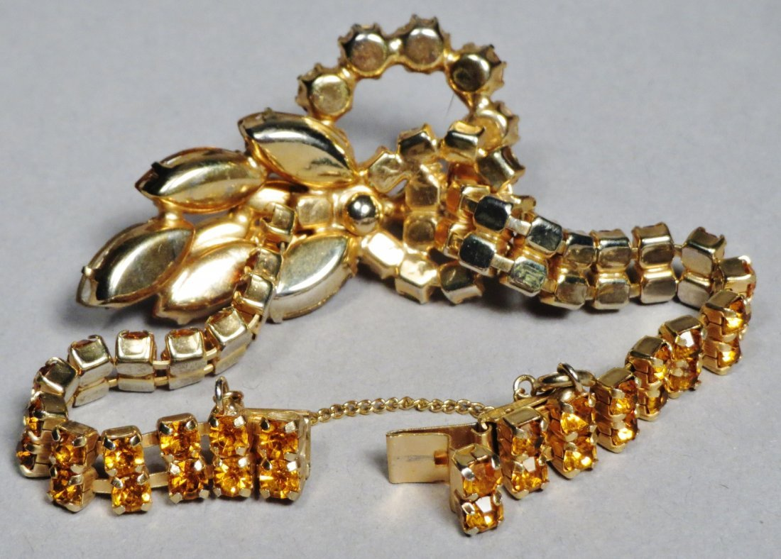 Three piece vintage Jewelry Juliana Brown , attri. - 5