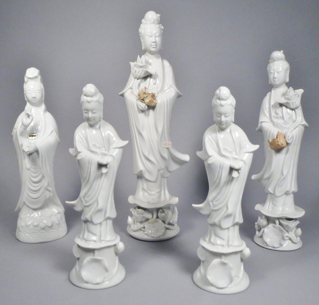 Lot of Chinese Republic. Blanc de Chein, Quan Yin PLUS
