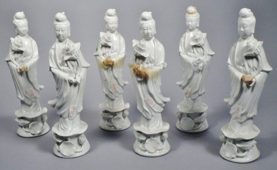 Chinese Republic Era Quan Yin Lot Of 6 - 3
