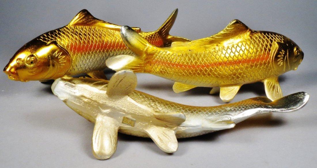 Lot of 6 Japanese Cast Iron Koi Fish - 5