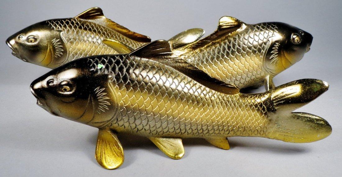 Lot of 6 Japanese Cast Iron Koi Fish - 7