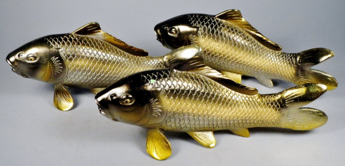 Lot of 6 Japanese Cast Iron Koi Fish - 9