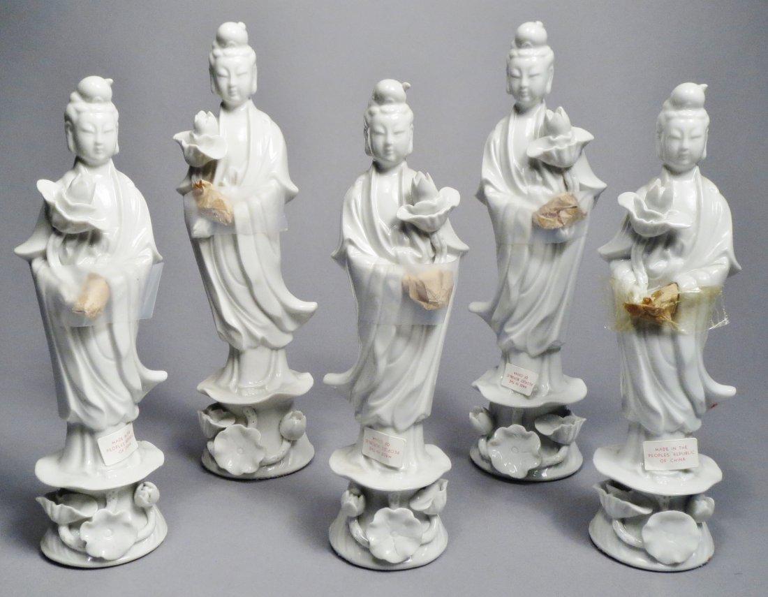 Lot Of 5 Blanc de Chien Chinese Republic Figurines