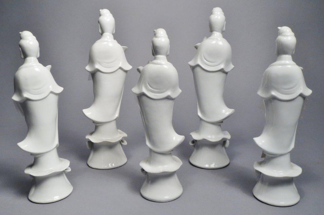 Lot Of 5 Blanc de Chien Chinese Republic Figurines - 3