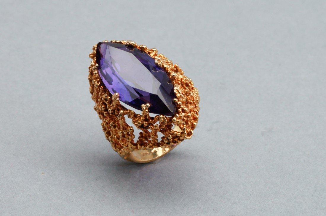Siffari 10K Gold & Amethyst Cocktail Ring - 2