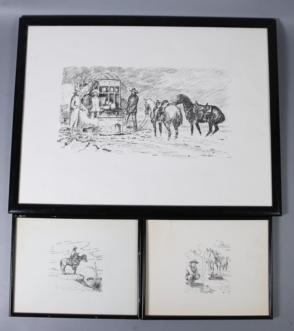 Harold Dow Bugbee Three Prints
