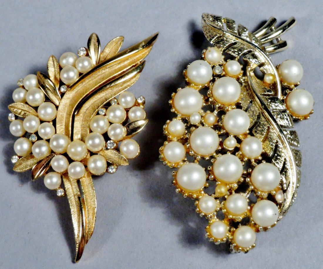 Lot of brooches Arts-n-Crafts, Art Deco Costume Jewelry - 5