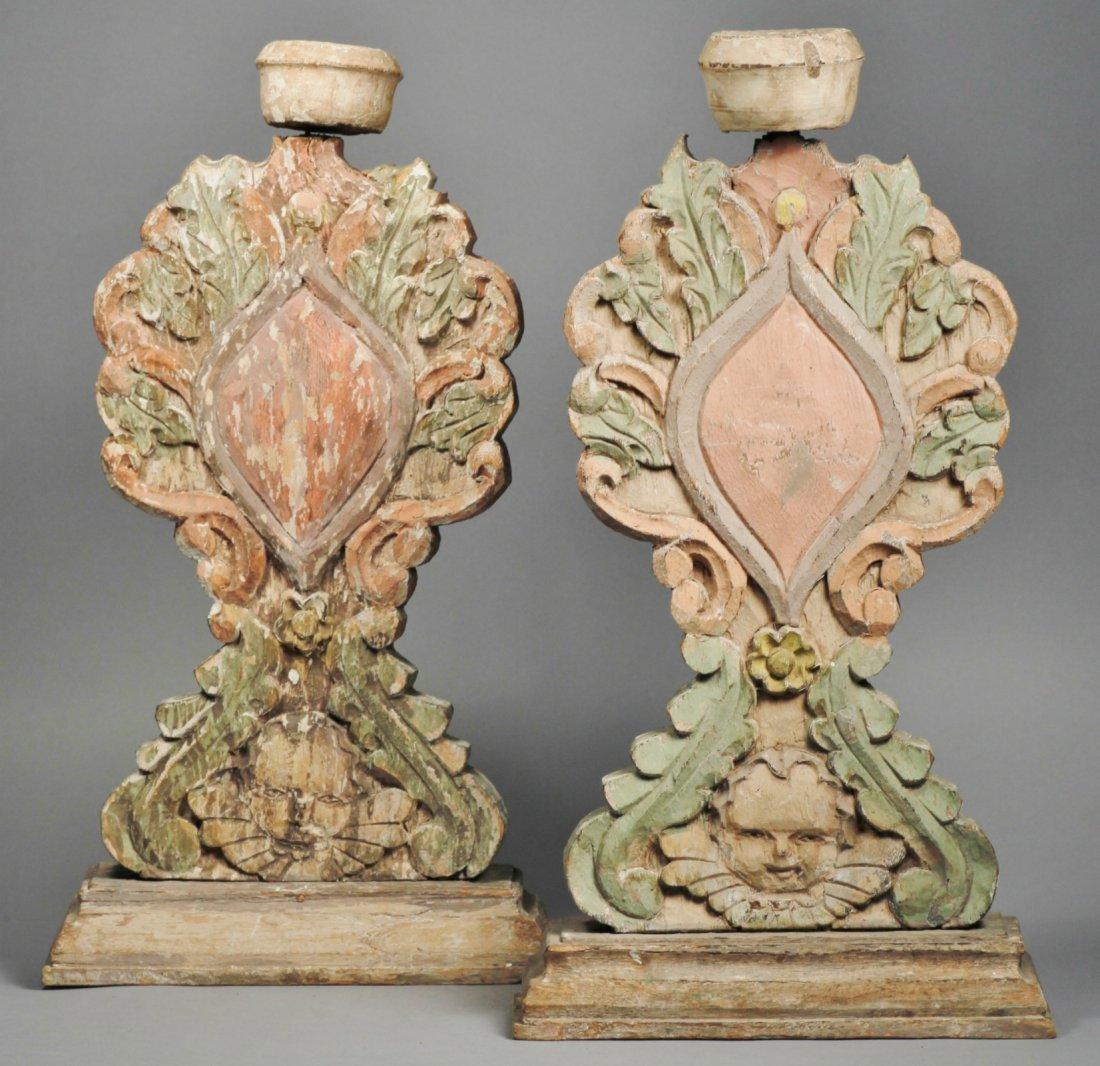 Spanish Colonial Style Candle holders Putti