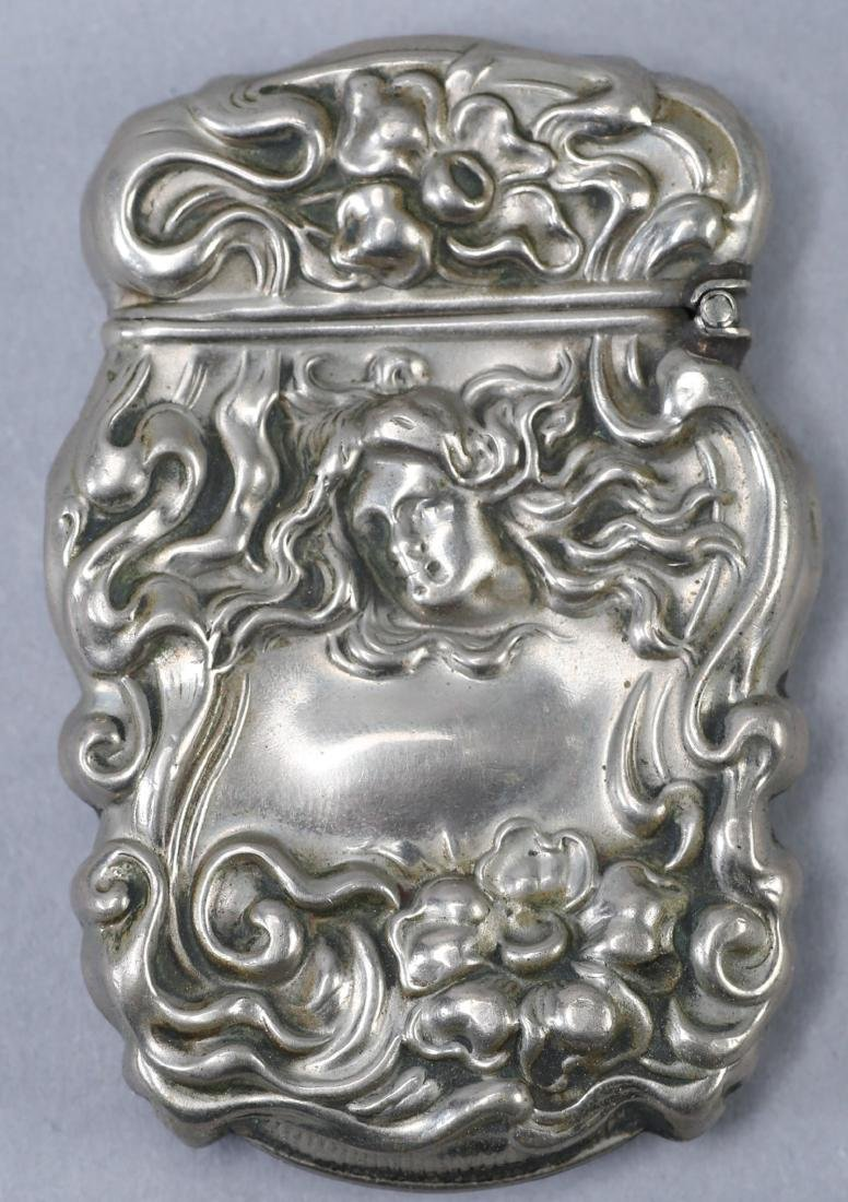 c1890 Art Nouveau Vesta Case Sterling