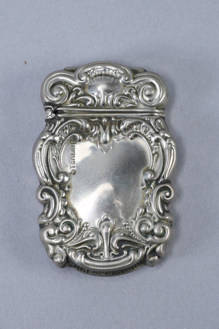 c1890 Art Nouveau Vesta Case Sterling - 2