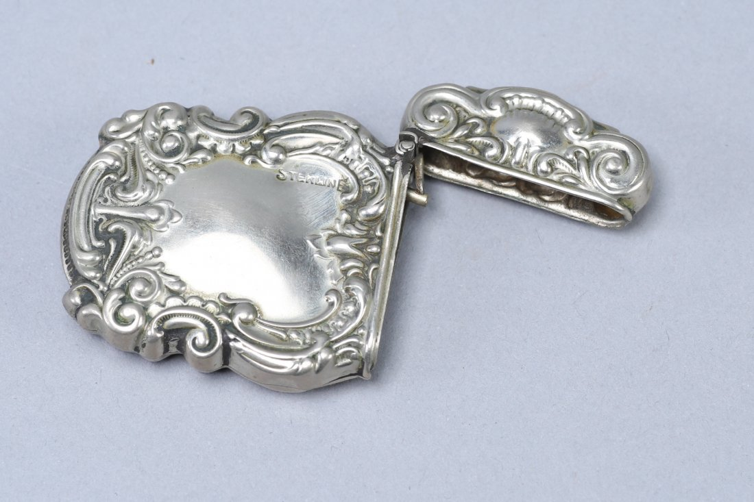 c1890 Art Nouveau Vesta Case Sterling - 3