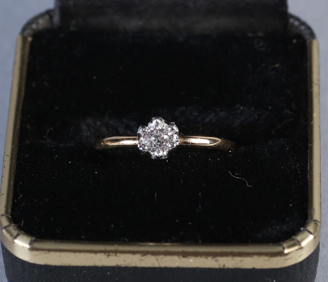 1913 Tiffany 14K Gold & Diamond Ring
