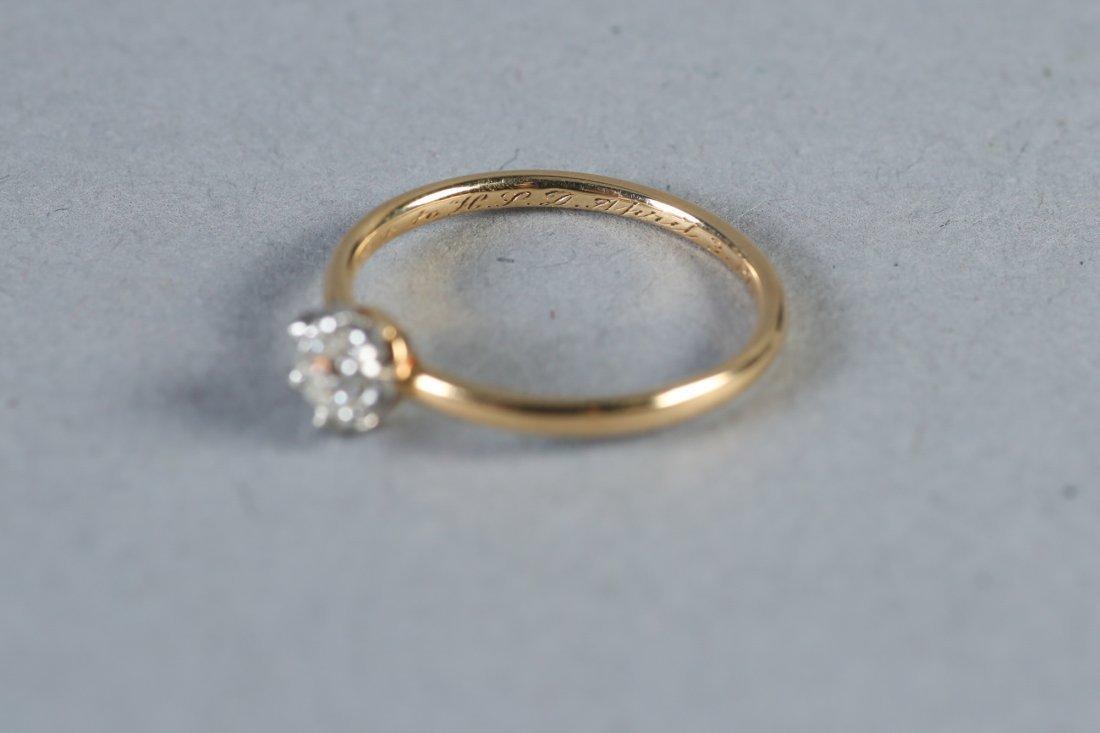 1913 Tiffany 14K Gold & Diamond Ring - 2