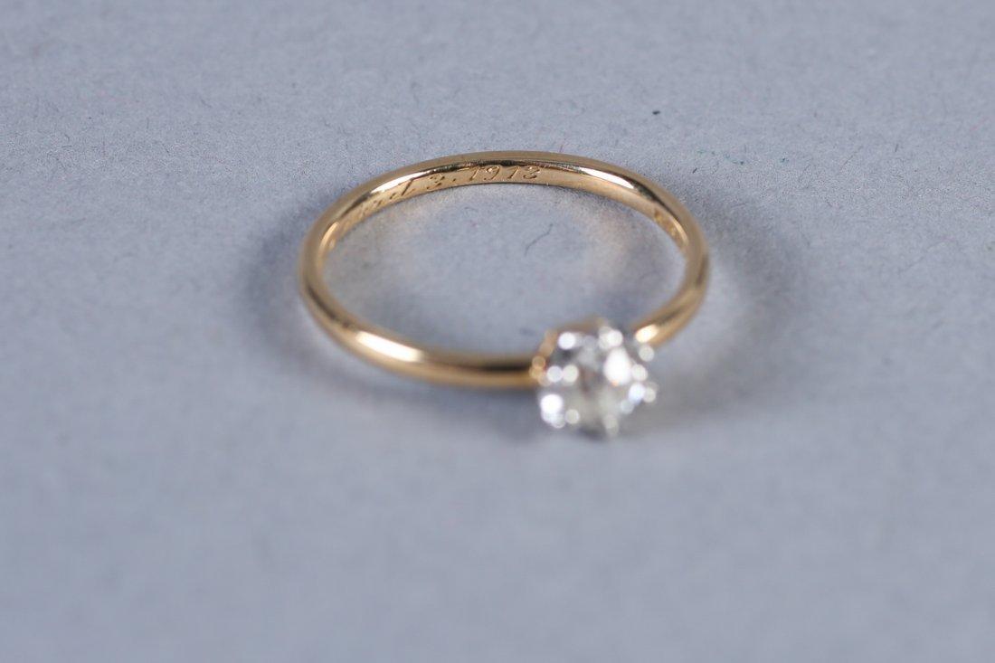 1913 Tiffany 14K Gold & Diamond Ring - 3