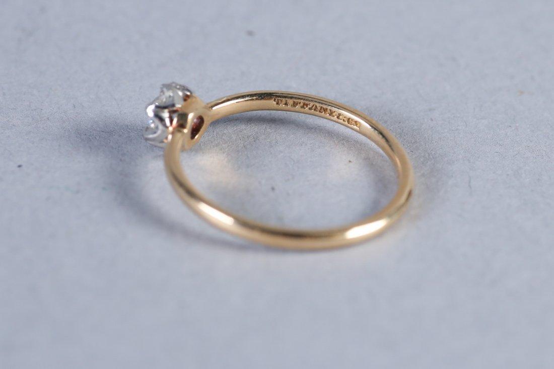 1913 Tiffany 14K Gold & Diamond Ring - 4