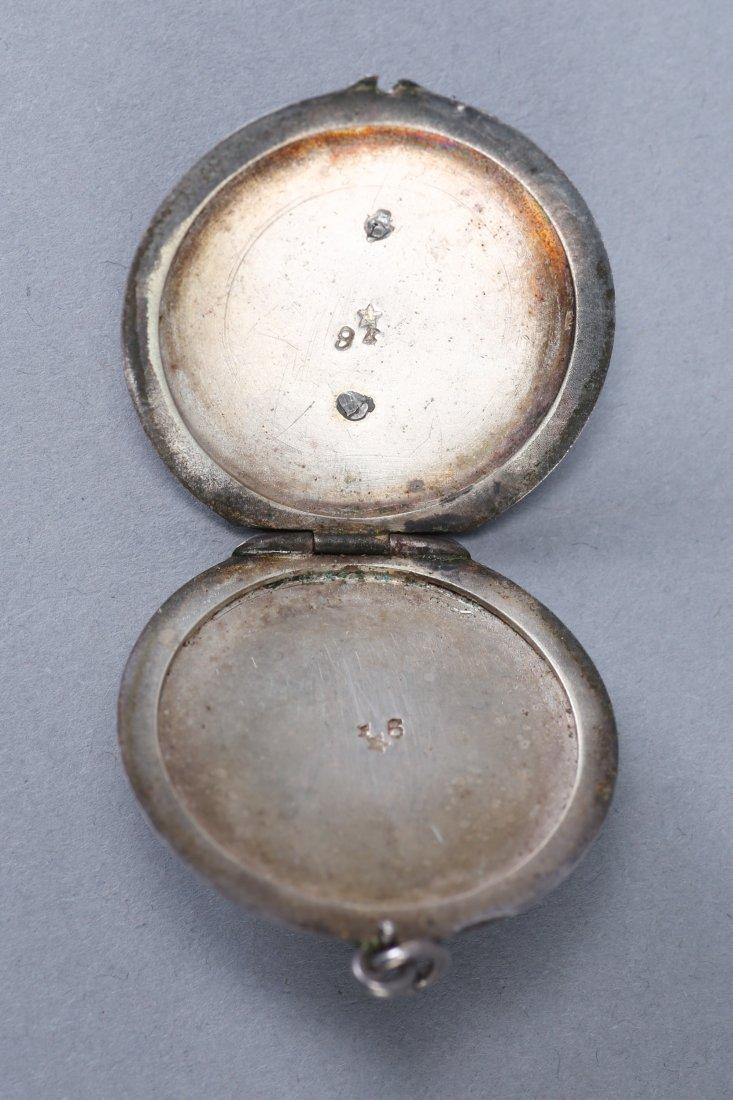 Antique German Sterling Black Enamel Locket - 3