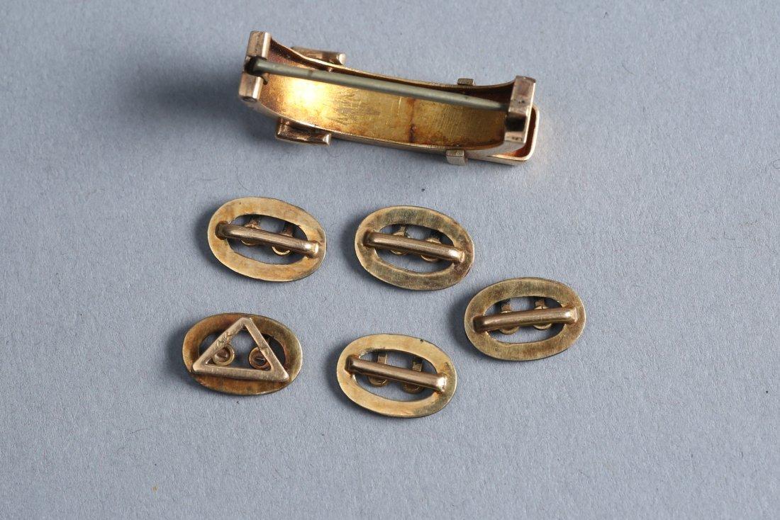 Victorain Enamel & 14k Gold Buckle Brooch Lot - 2