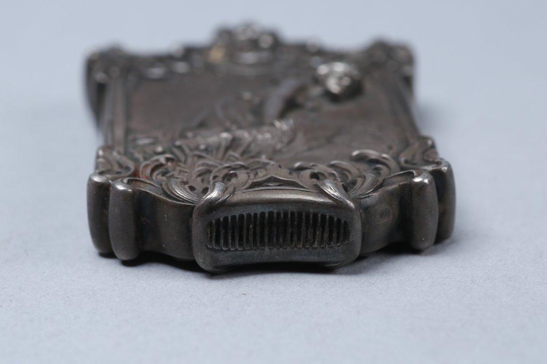 c1890 Sterling Vesta Case, Fairy Motif - 2