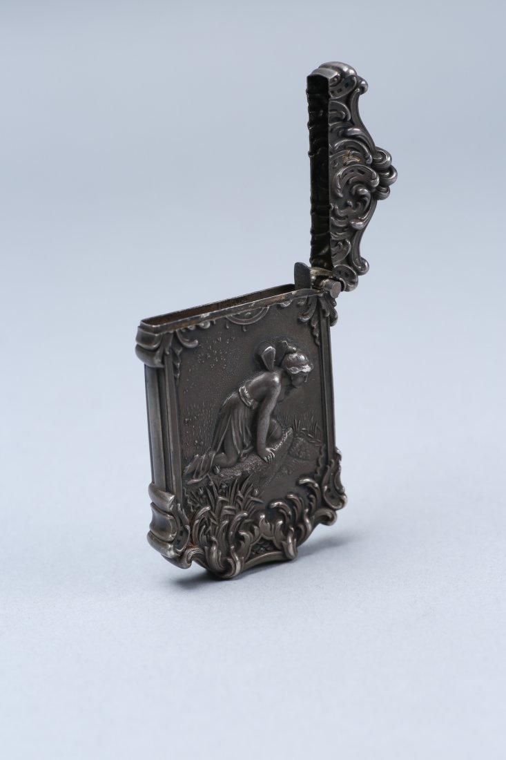 c1890 Sterling Vesta Case, Fairy Motif - 3