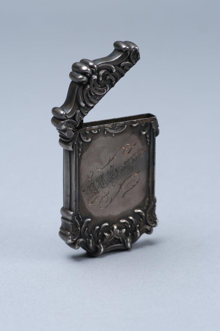 c1890 Sterling Vesta Case, Fairy Motif - 4