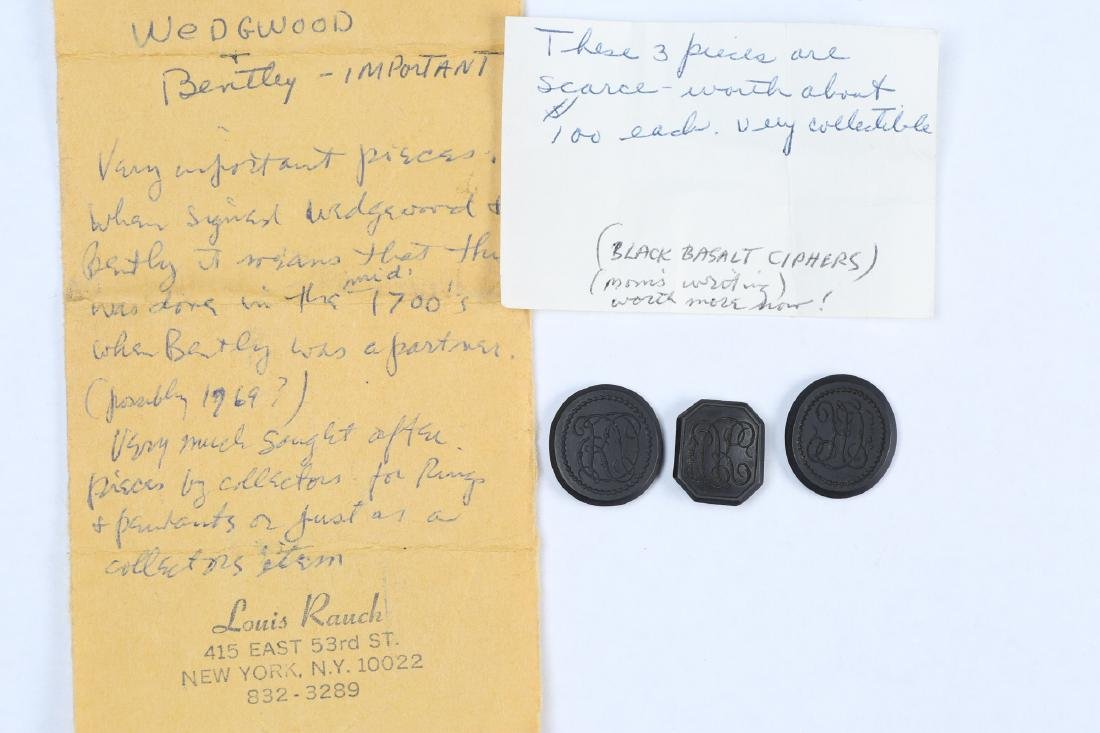 c1770 Wedgwood & Bentley Black Basalt Ciphers