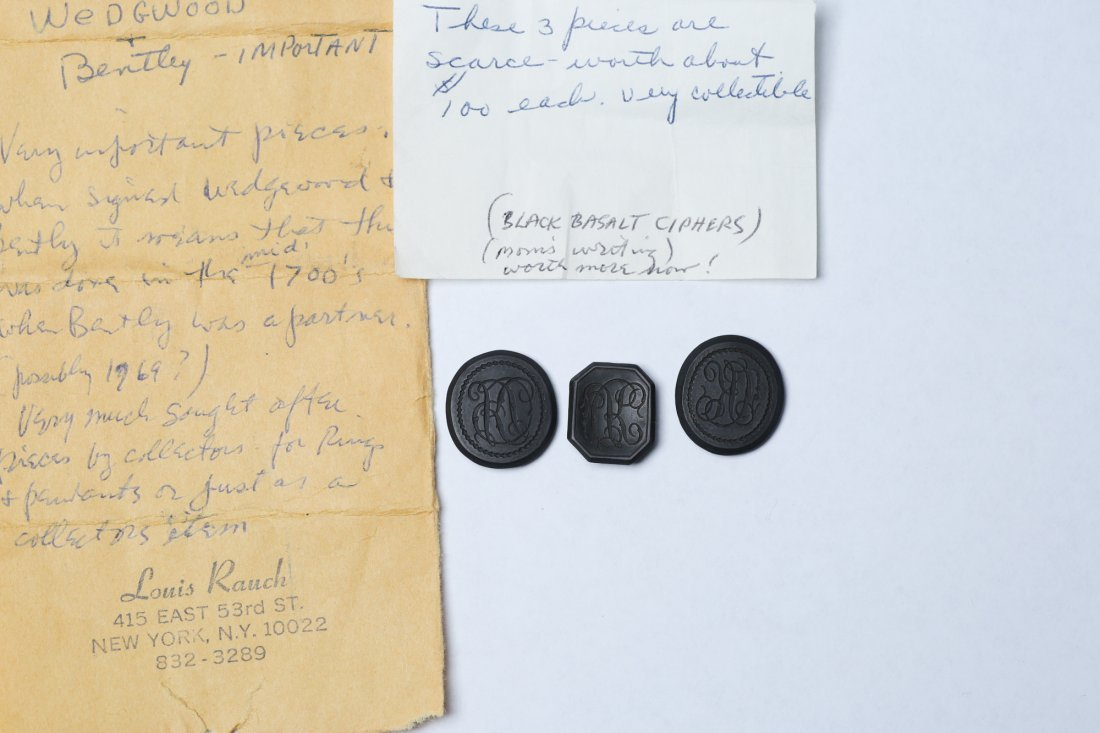 c1770 Wedgwood & Bentley Black Basalt Ciphers - 5