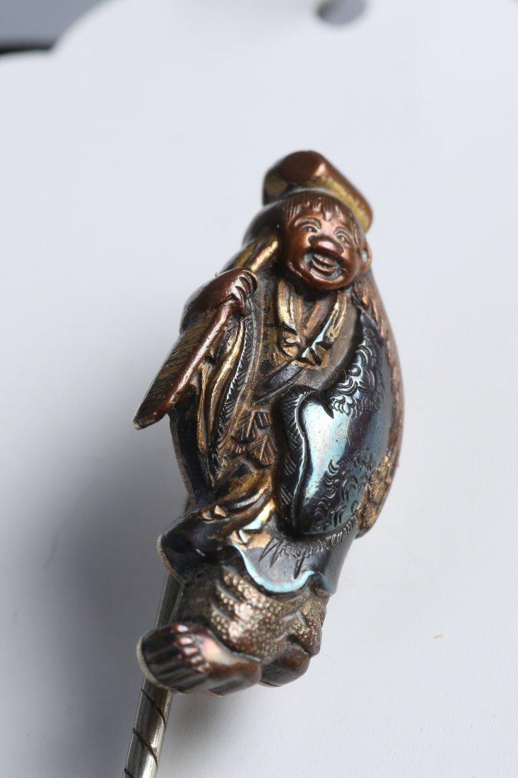 17th C Konkan Iwamoto Menuki Stick Pin - 3
