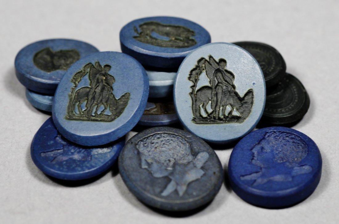 Antique Intaglio  Discs - 2