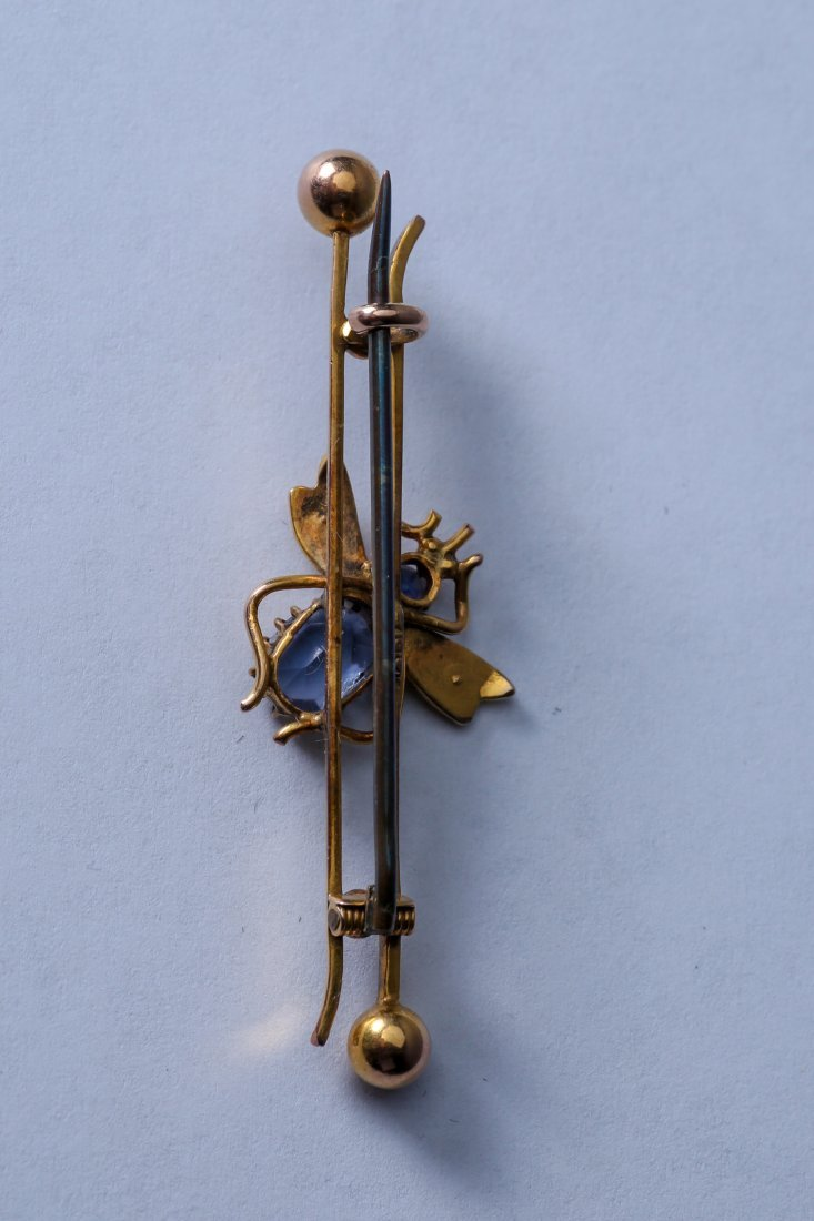 Antique Gold 10K Bar Pin, Marked 1917 - 2