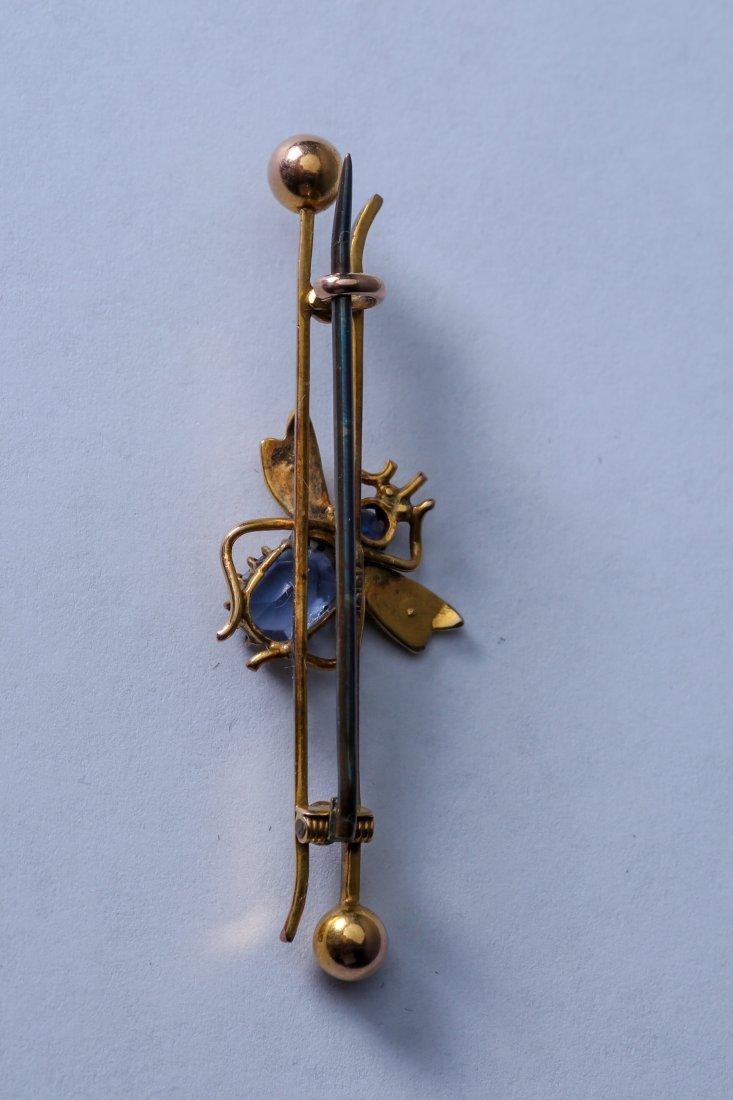 Antique Gold 10K Bar Pin, Marked 1917 - 3