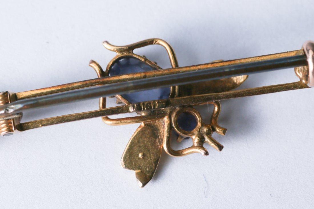 Antique Gold 10K Bar Pin, Marked 1917 - 4