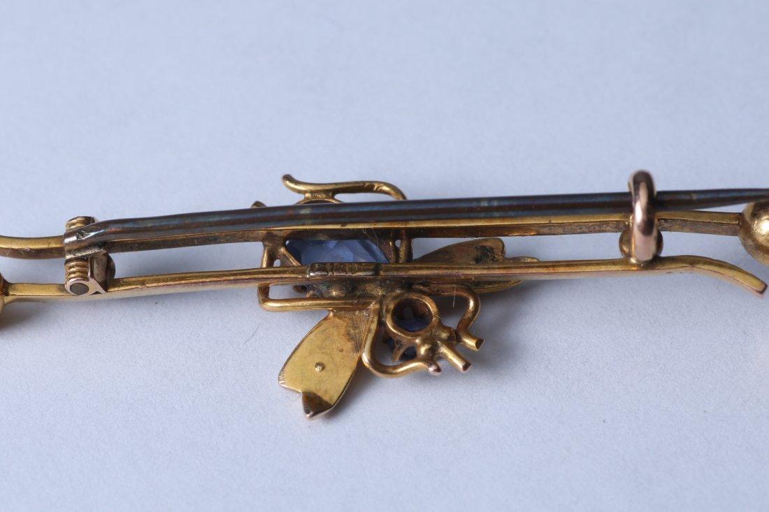Antique Gold 10K Bar Pin, Marked 1917 - 6