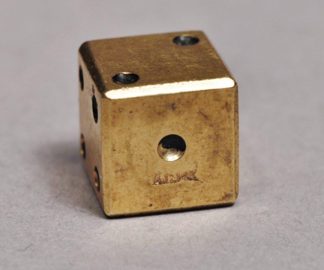 Vintage 14K Gold 1 Dice, Artist Signed - 3