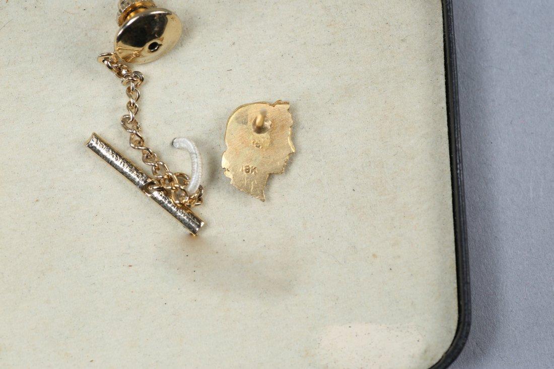 Vintage 18K Roman Head Tie Pin - 2