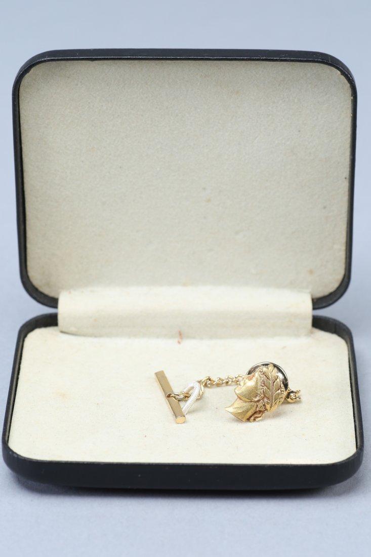 Vintage 18K Roman Head Tie Pin - 3
