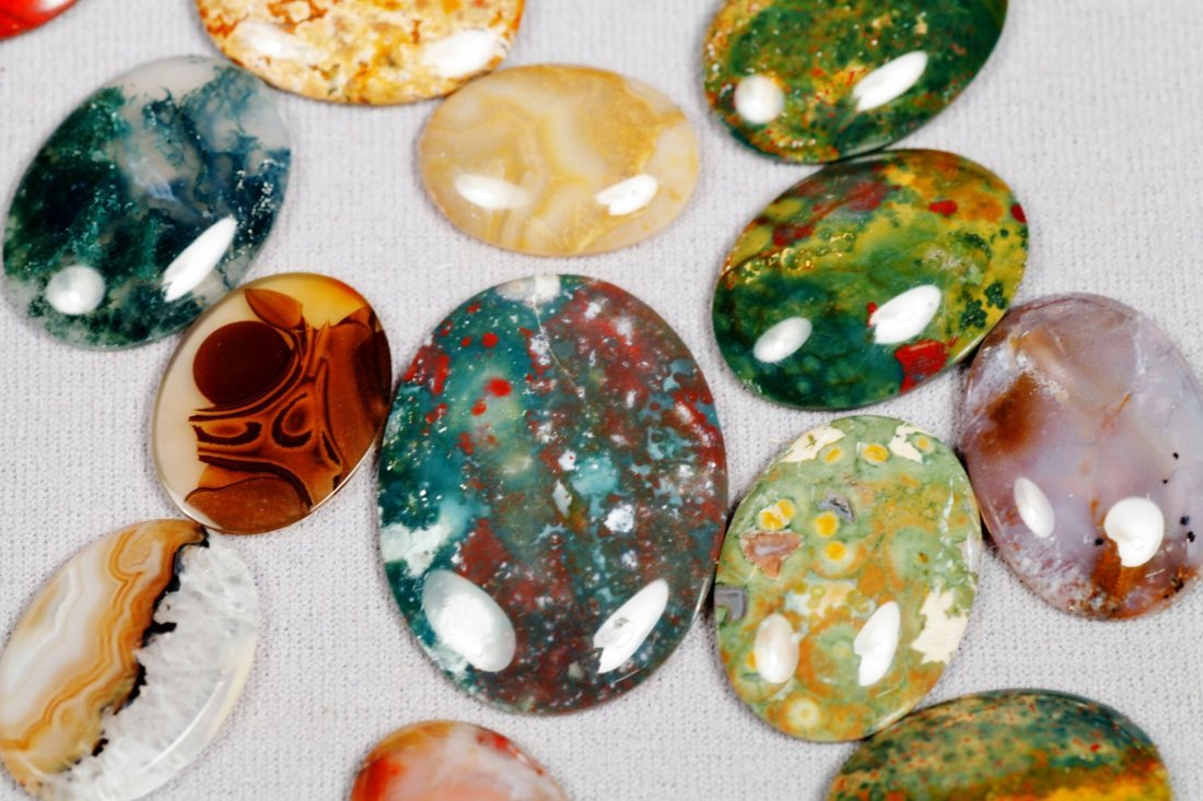 Various Oval Polished Stones - 3