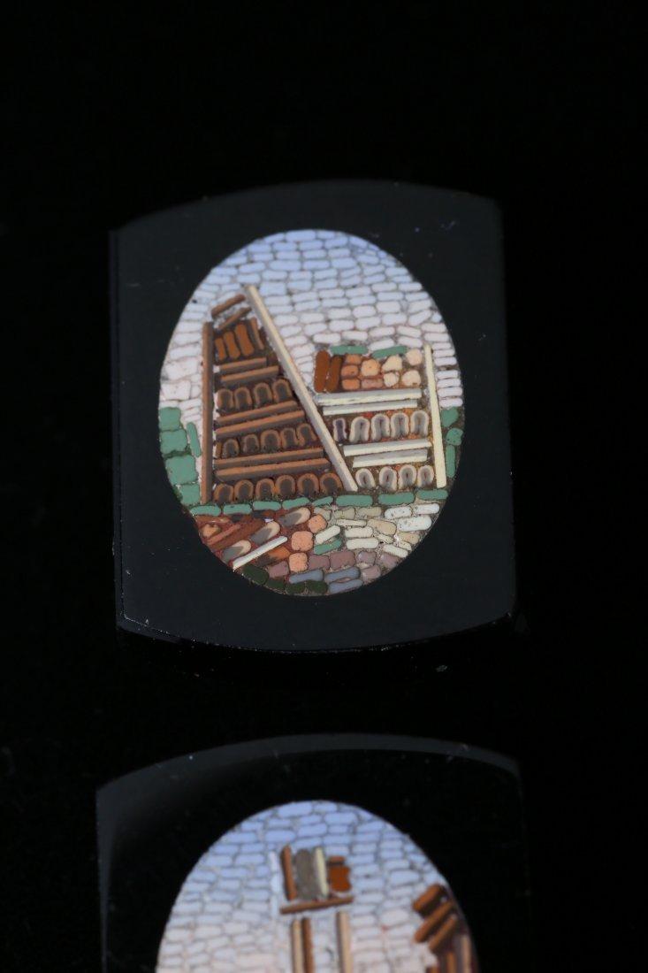 Antique Micro Mosaic 10k Cufflink Button Lot - 5