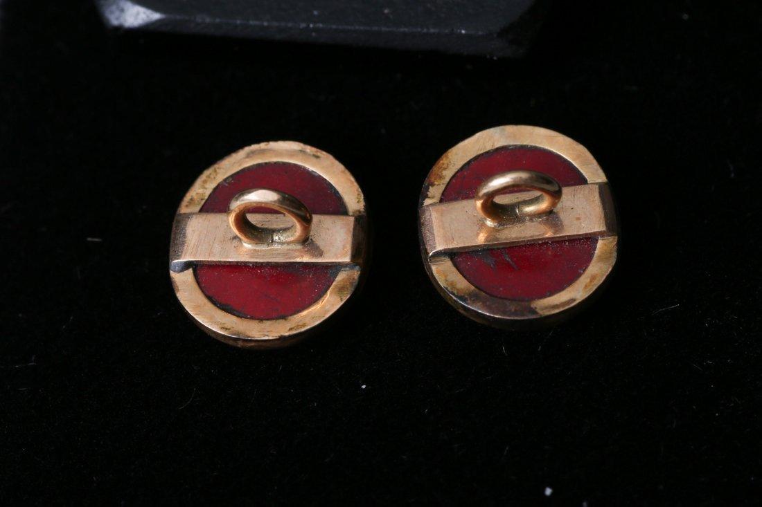 Antique Micro Mosaic 10k Cufflink Button Lot - 7