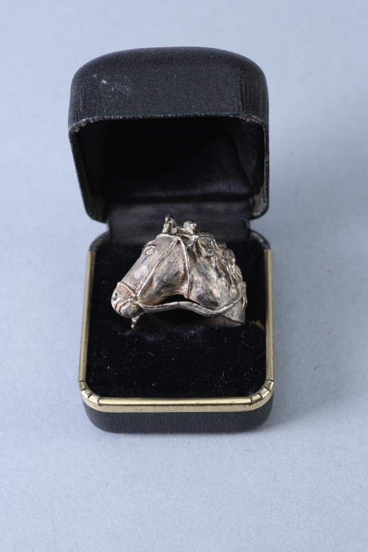 Sterling Silver Horse Head with Bridle Ring