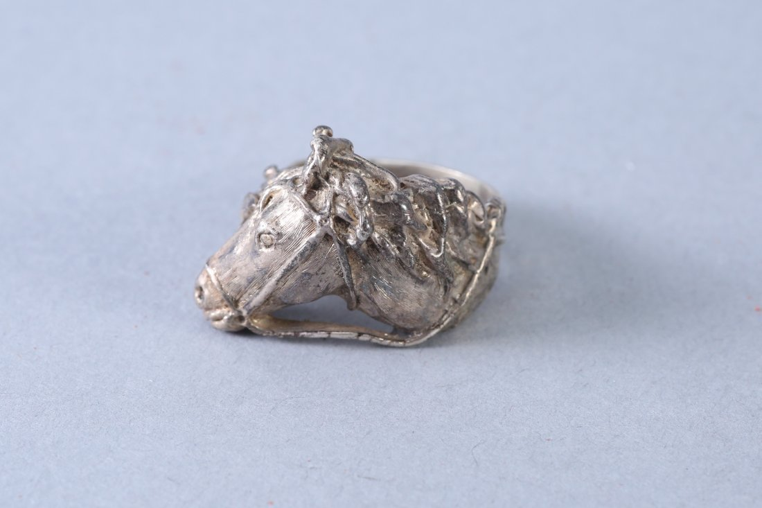 Sterling Silver Horse Head with Bridle Ring - 2