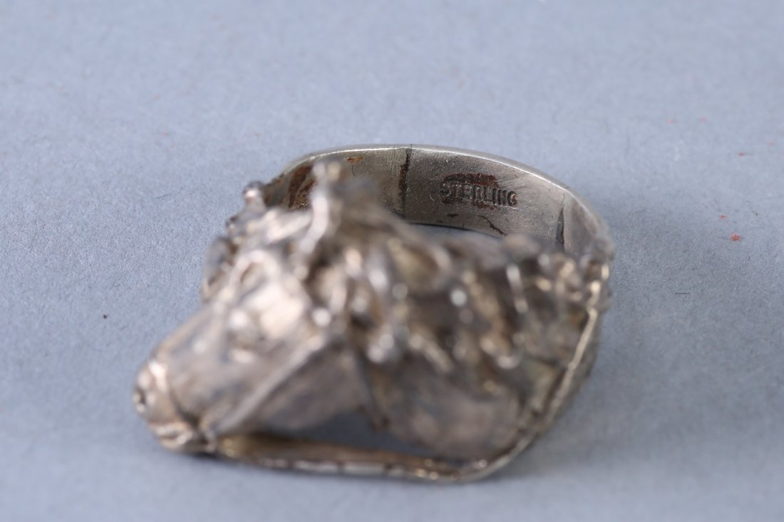 Sterling Silver Horse Head with Bridle Ring - 3
