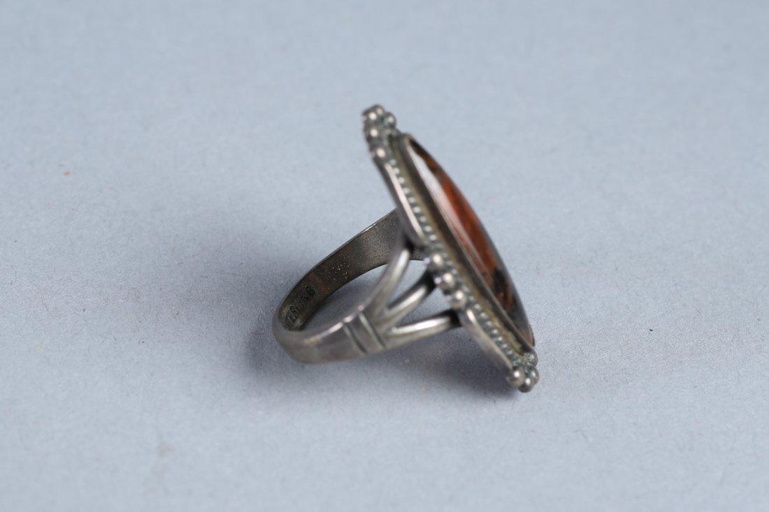 2 Stone Rings Vintage Designer Sterling - 2
