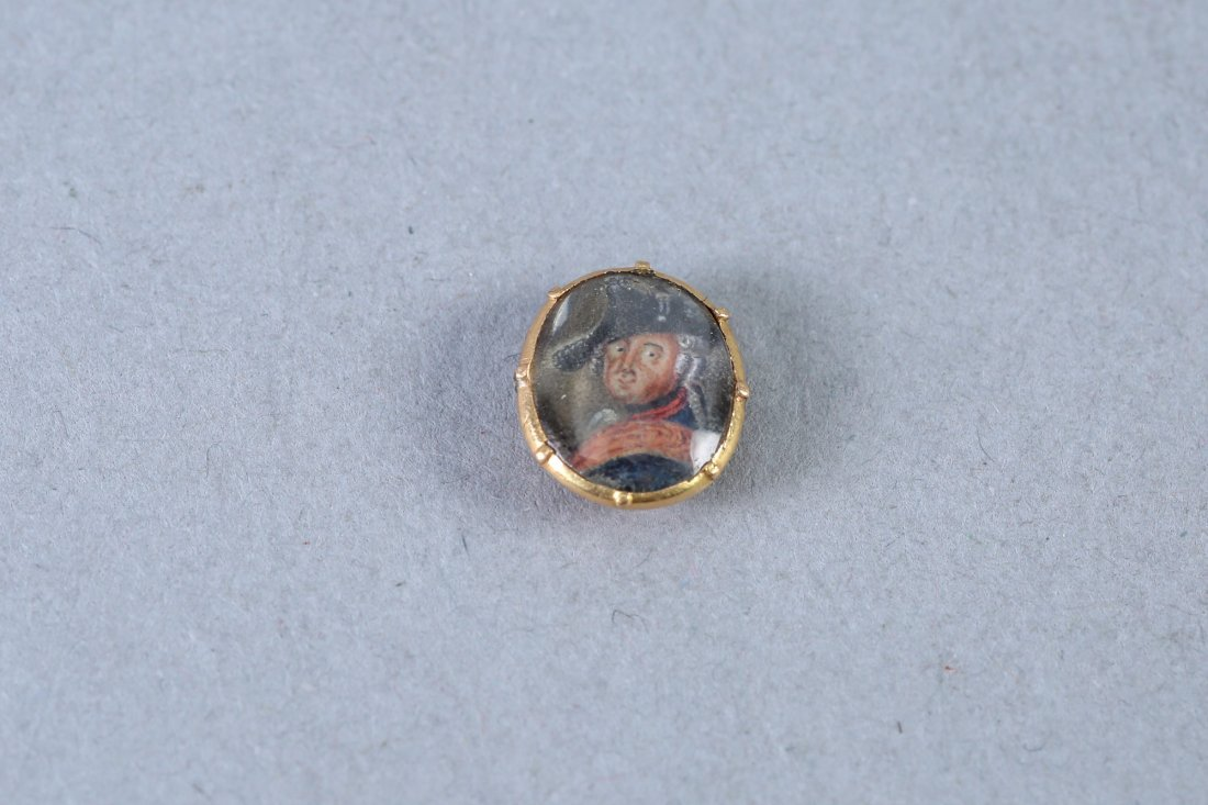 Georgian Very Miniature Portrait Miniature 10 K
