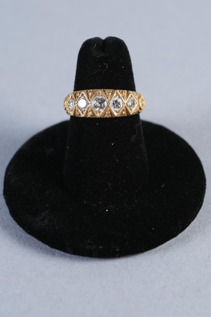Georgian 18K Gold & Diamond Ring, London