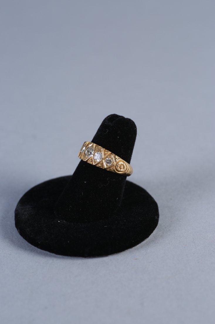Georgian 18K Gold & Diamond Ring, London - 2