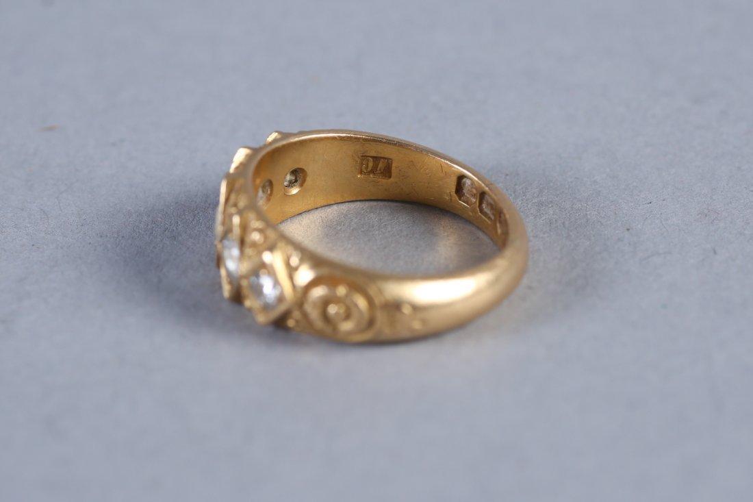 Georgian 18K Gold & Diamond Ring, London - 4