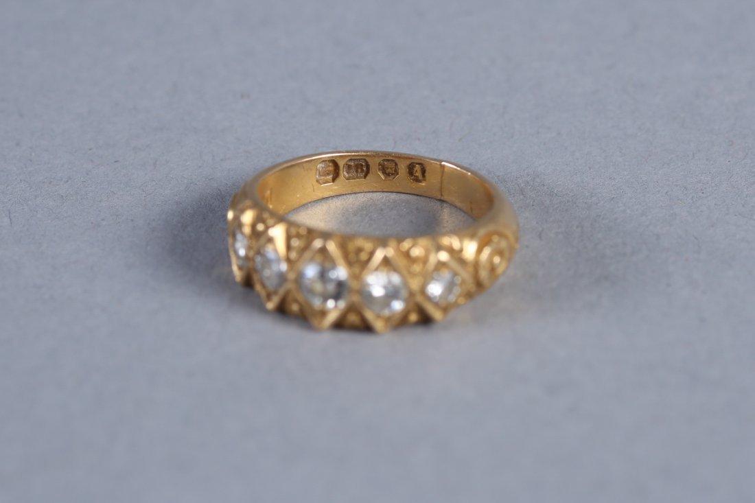 Georgian 18K Gold & Diamond Ring, London - 5